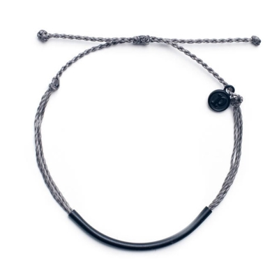 Pura-Vida-BLACK-BAR-DARK-GREY-黑管平衡骨-灰色臘線衝浪手環