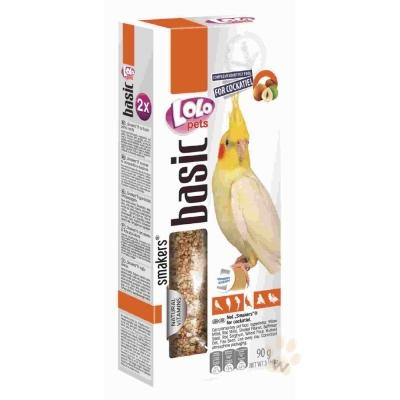 LoLo 中型長尾鸚鵡棒棒糖(堅果)90g 2入