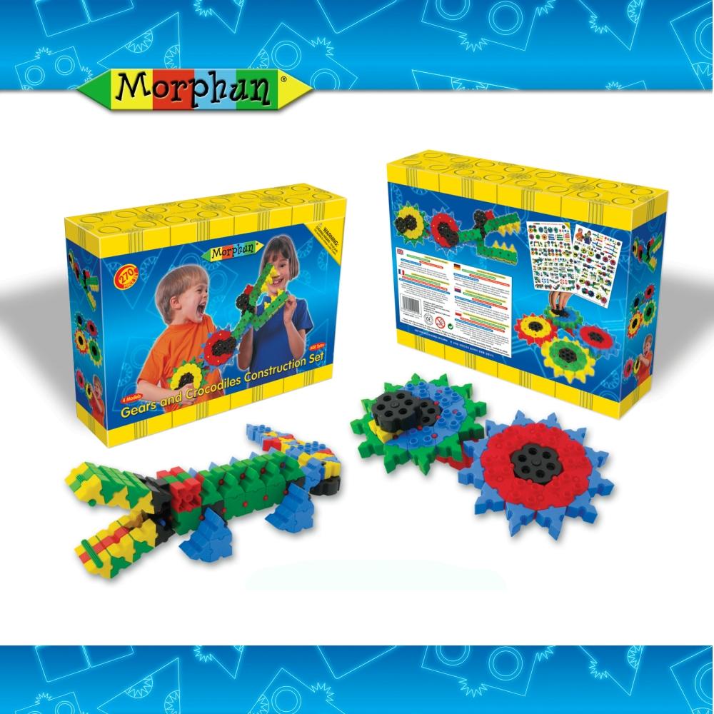 英國Morphun魔法創意積木-鱷魚和齒輪組270片