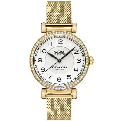 COACH Madison  純淨無瑕晶鑽米蘭腕錶(14502652)-金/32mm