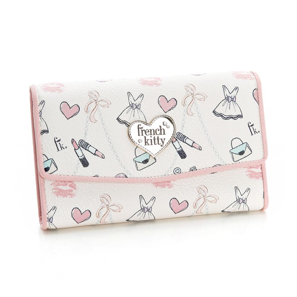french kitty-甜法夢境系列中長夾-粉紅色