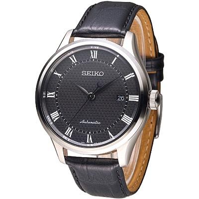 SEIKO 完美情人羅馬刻度自動機械錶(SRP769K2)-黑/42mm