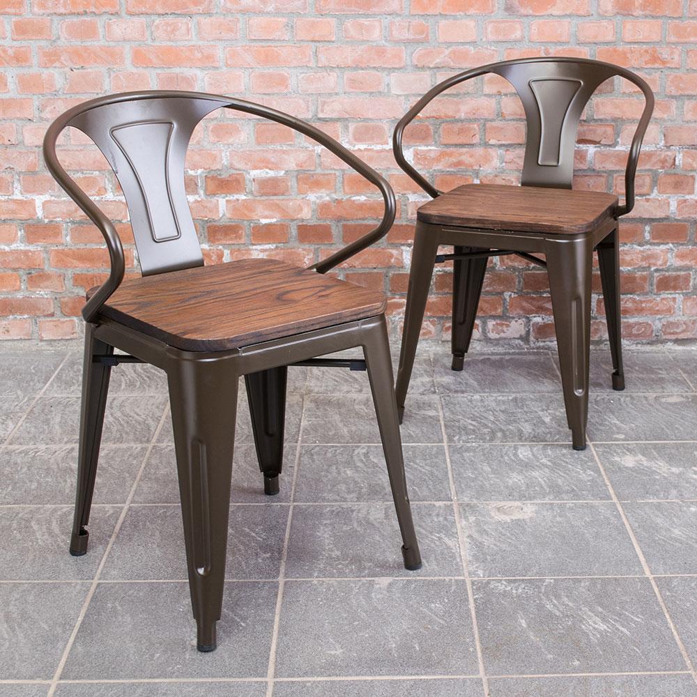Boden-布魯克工業風實木鐵腳餐椅(四入組合)-53x50x73cm