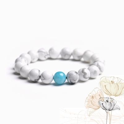 Hera 純淨幸福滿滿白松石手珠(海藍寶款)