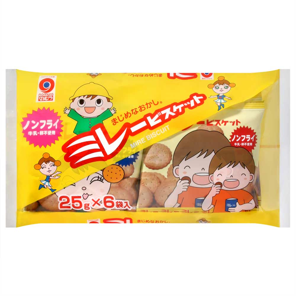 野村煎豆 非油炸美樂圓餅6包入(150g)