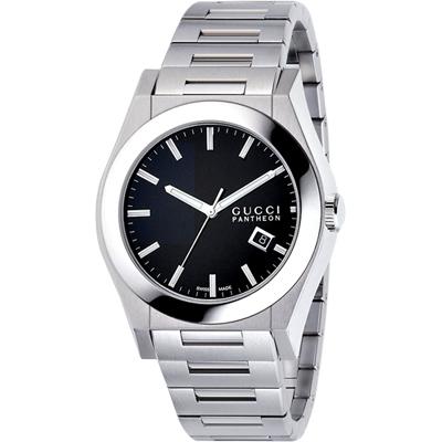 GUCCI  Pantheon 時尚菁英腕錶-黑/44mm