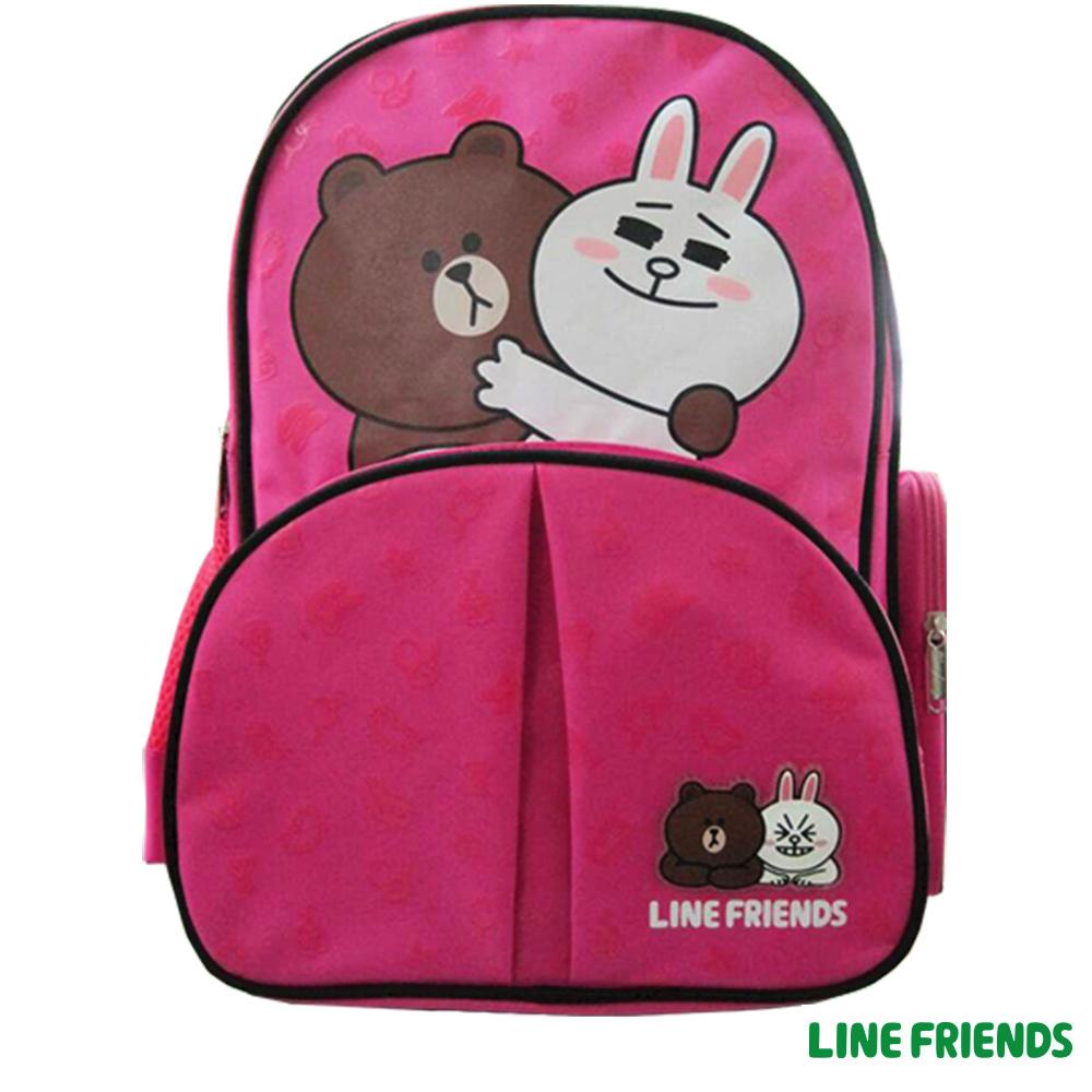 【LINE FRIENDS】護脊書背包(桃色_兔兔熊大_LI-5579)