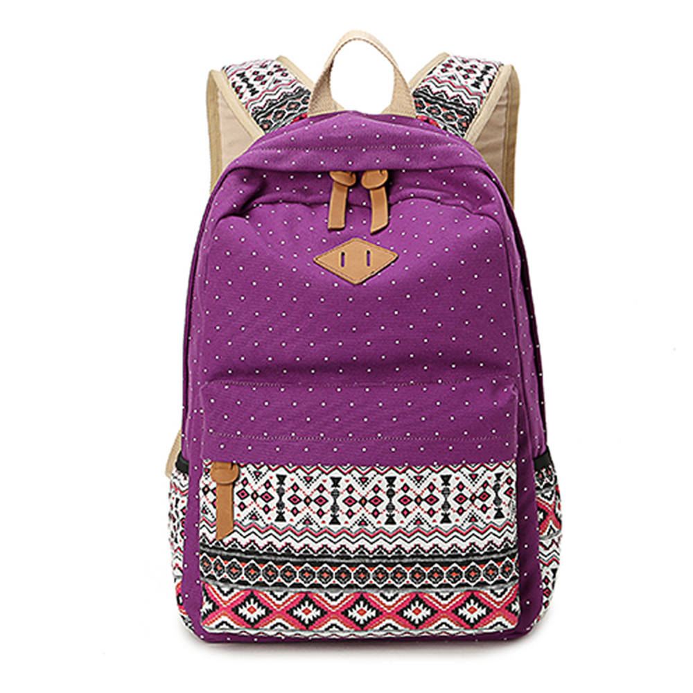 leaper雙肩古典風後背包 紫色 @ Y!購物
