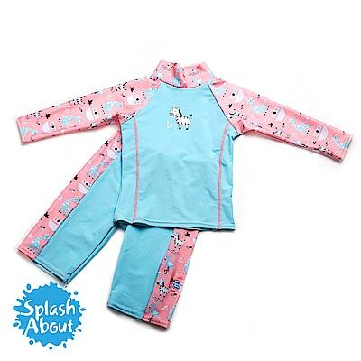 潑寶 Splash About 兒童抗 UV 游泳套裝 - 粉紅動物園