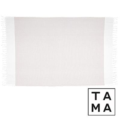TAMA 天然純淨頂級土耳其手工平織薄巾(亞麻沙棕 )
