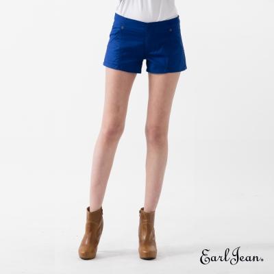 Earl Jean 純色低腰棉質短褲-寶藍-女