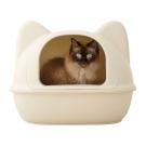 日本ICAT貓造型貓砂盆-米白