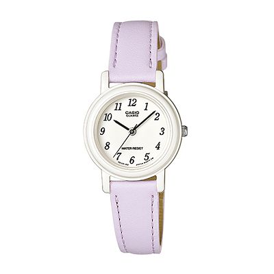 CASIO 馬卡龍甜心魅力皮帶腕錶-粉嫩紫/26mm