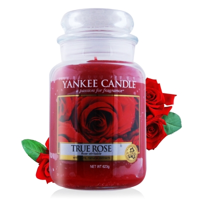 YANKEE CANDLE香氛蠟燭-真愛玫瑰623g