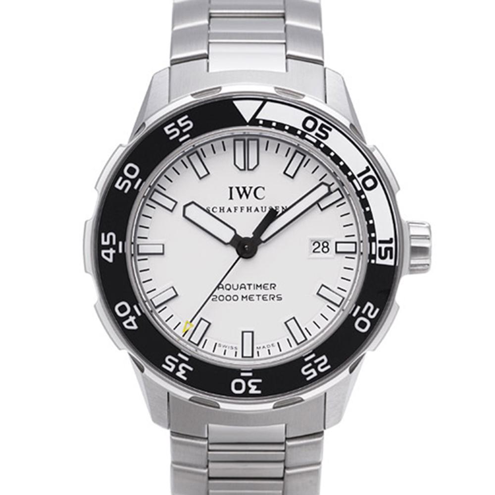 IWC 萬國錶 Aquatimer IW356809 海洋時計2000米潛水機械錶-白/44mm