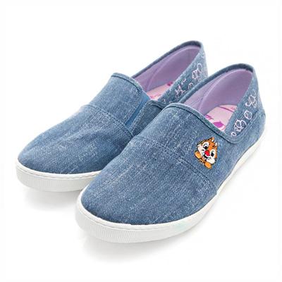 DISNEY 淘氣夥伴 奇奇蒂蒂休閒便鞋-藍