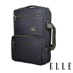 ELLE城市都會休旅系列-大容量收納13吋手提/後背/電腦公事包-深藍 EL83910