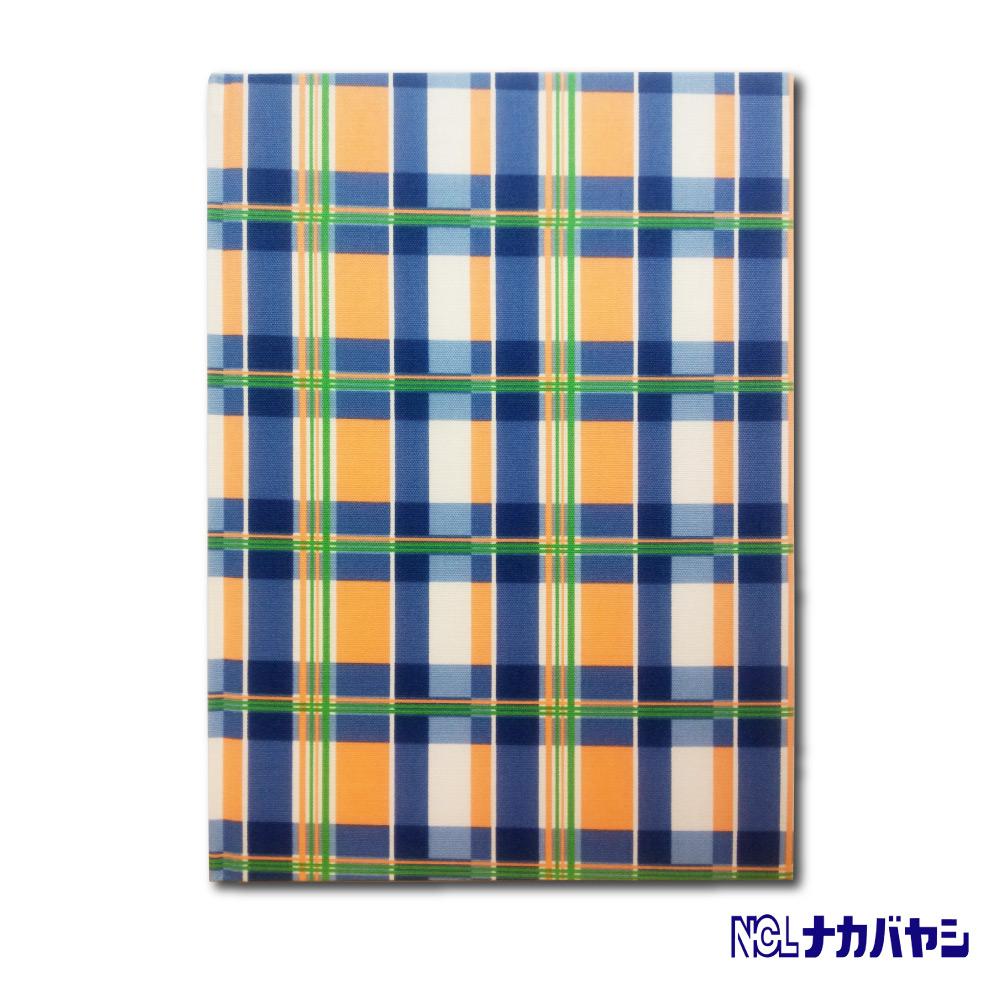 日本 Nakabayashi 自黏相本 友禪染系列 格紋相本(藍)
