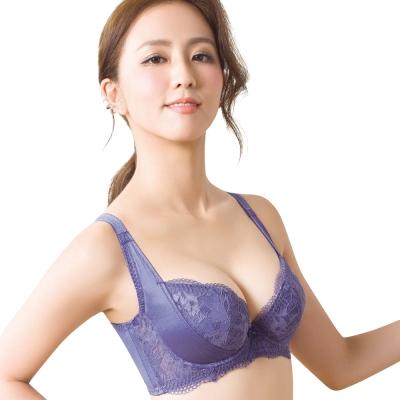 思薇爾 柔挺美學系列B-G罩蕾絲美背塑身內衣(楹花紫)