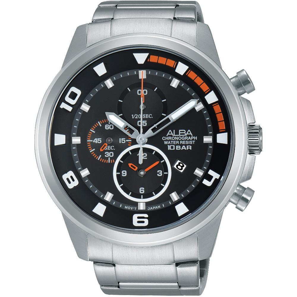 ALBA 即動宣言 年度限量計時運動套錶(AF8U07X1)-黑/47mm