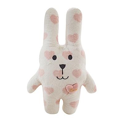 CRAFTHOLIC 宇宙人 粉紅甜心兔寶貝枕