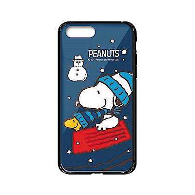 史努比SNOOPY正版授權iPhone7 Plus/8 Plus雙料玻璃防摔殼