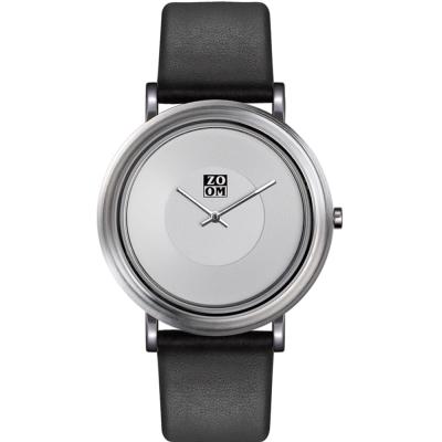 ZOOM - 168°系列設計極簡風腕錶-白/44mm