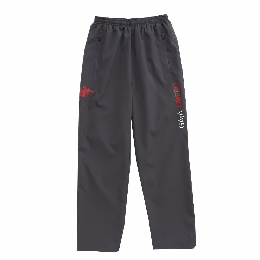 KAPPA義大利 舒適高透濕小朋友單層風褲1件 深灰