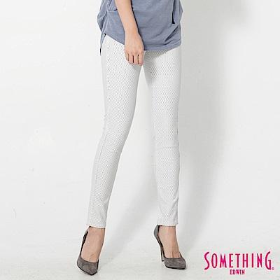 SOMETHING LADIVA超彈力窄直筒褲-女-白色