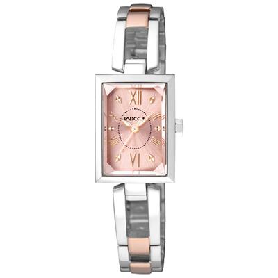 CITIZEN WICCA傾訴愛戀時尚腕錶(BE1-038-91)-粉橘x雙色版/18mm