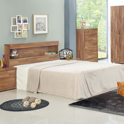 品家居 古德烈5尺雙人床台(床片+床底)不含床墊