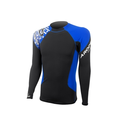 AROPEC Compression II 男款運動機能壓力衣 長袖 黑/藍