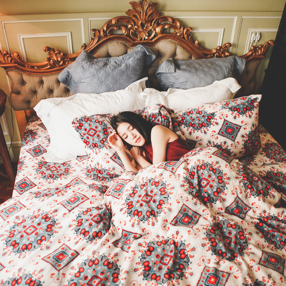 PRIMARIO 台灣製 加大-防靜電極緻保暖法蘭絨被套/床包四件組 安卡拉
