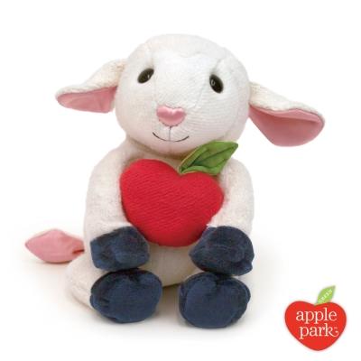 美國 Apple Park 有機棉玩偶彌月禮盒 - 蘋果小羊