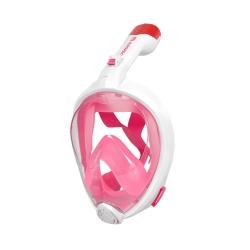 AROPEC 浮潛全罩式呼吸管面罩 粉色