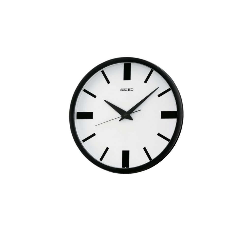 SEIKO 日本精工 設計風 滑動式秒針 靜音掛鐘 時鐘(QXA476T)白/31cm