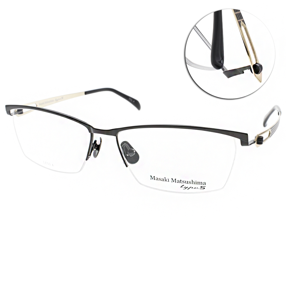 Masaki Matsushima眼鏡 日本松島正樹/黑-金#MFT5006 C04