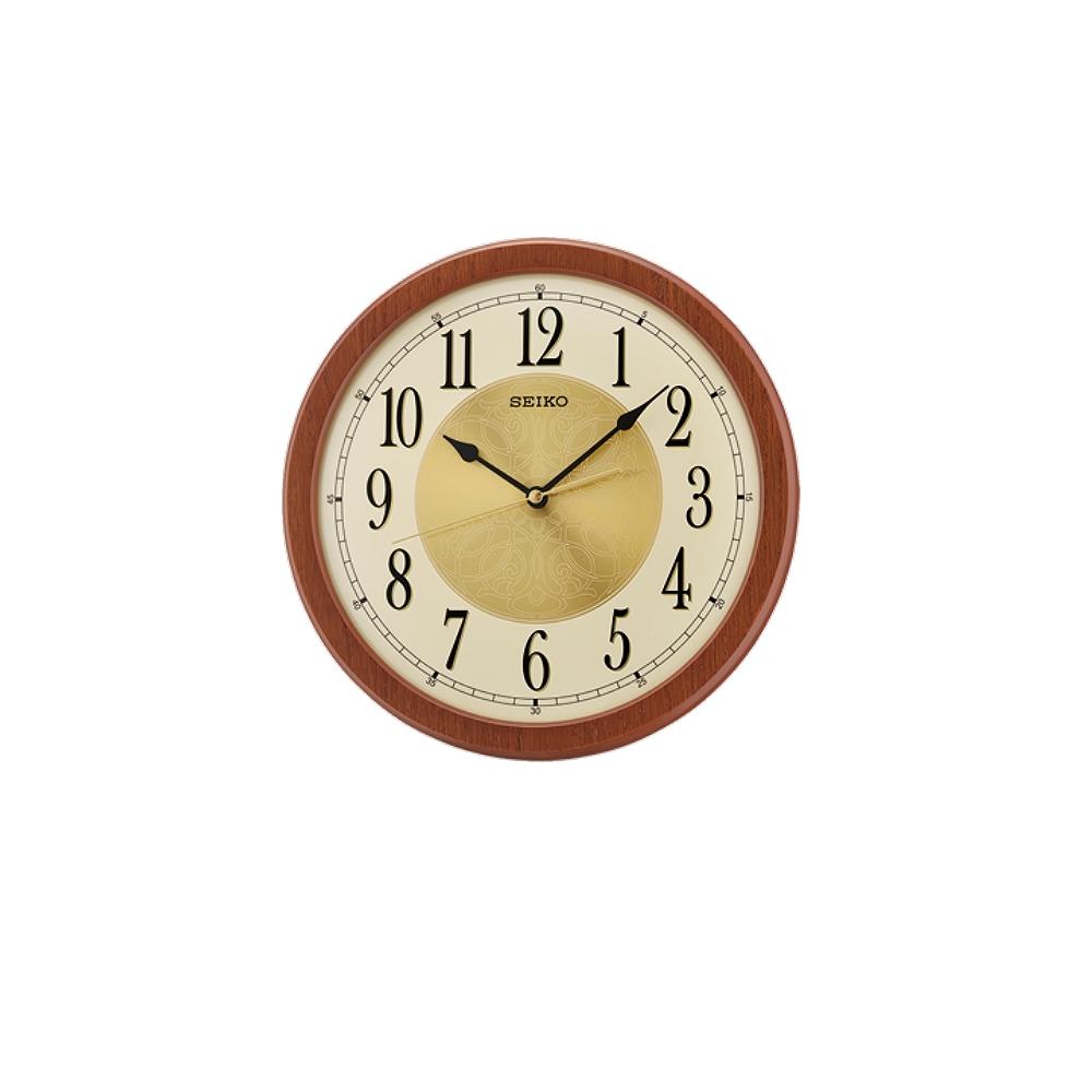 SEIKO 日本精工 滑動式秒針 靜音掛鐘(QXA717Z)-咖啡/29.5cm