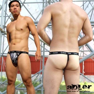 男內褲 斑馬紋丁字褲(黑)  aDLer