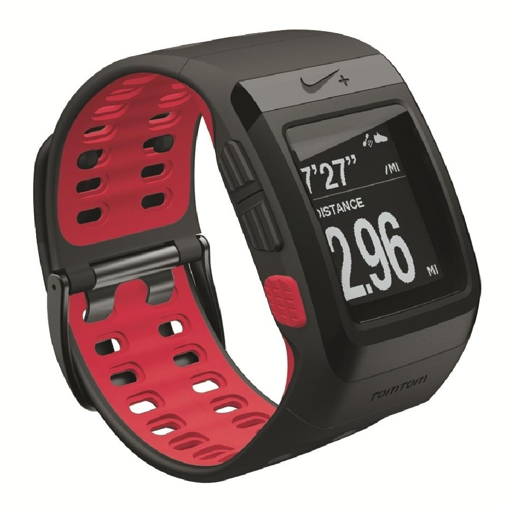 NIKE+ SPORTWATCH GPS軌跡記錄運動手錶 - 黑 / 紅