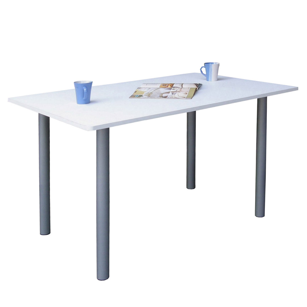 【KIC】大桌面[80公分x120公分] 廚房餐桌-素雅白色