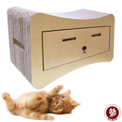 Box Meow 瓦楞貓抓板-貓抽屜 (CS015)