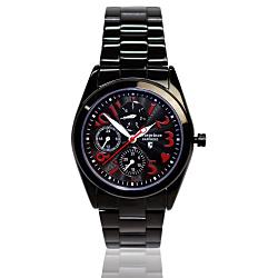 Arseprince 心型潮流三眼中性錶-黑色/32mm