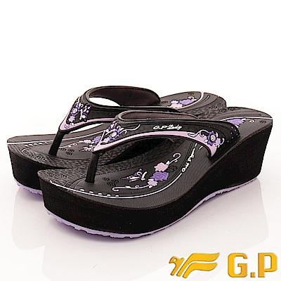 GP時尚涼拖-夾腳厚底鞋款-EI513W-41紫(女段)