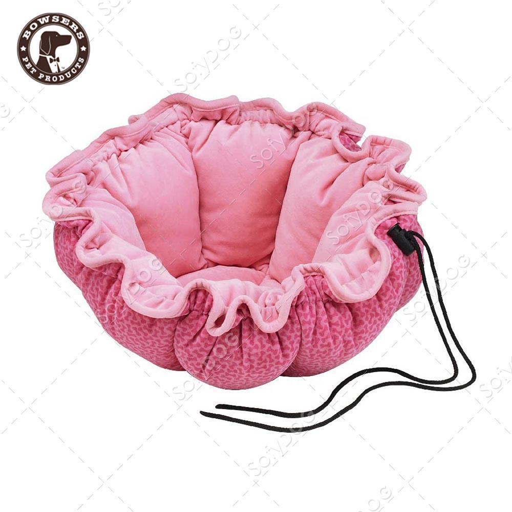BOWSERS杯型極適寵物床-粉紅小骨頭-S