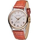 梭曼 Revue Thommen 華爾街系列時尚機械錶-咖啡色/37mm