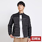 EDWIN 冒險旗行騎士風羽絨外套-男-黑灰