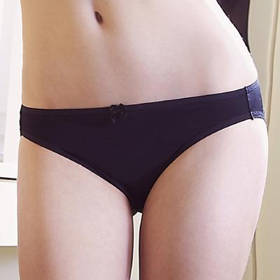 顏【EASY SHOP】素体美人 素面款中低腰三角褲(時尚黑)