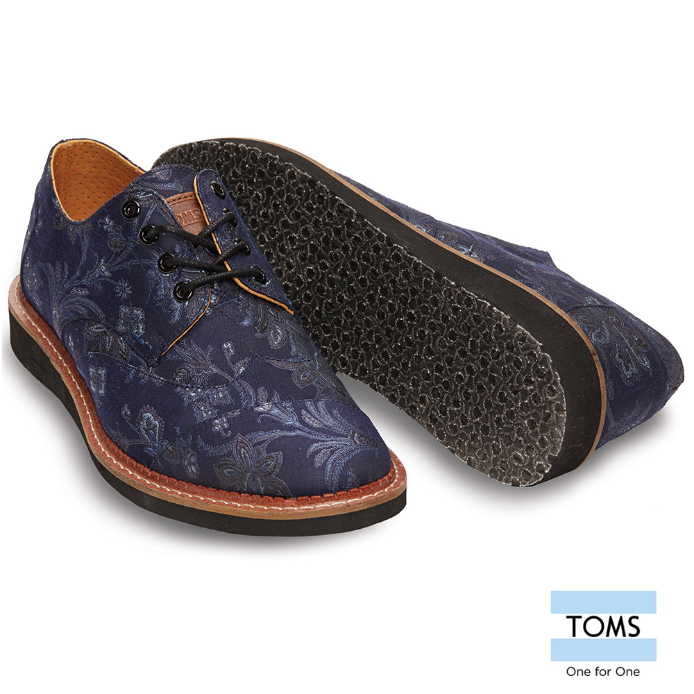 TOMS紳士緹花牛津鞋-男款
