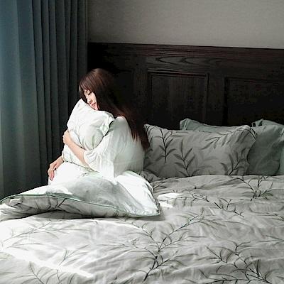 夢工場 流雲舒卷天絲頂規款四件套鋪棉床罩組-加大